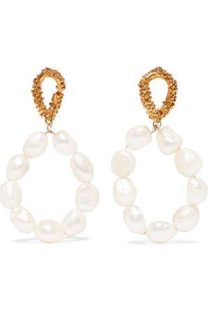 Alighieri   Apollo's Dance gold-plated pearl earrings   NET-A-PORTER.COM