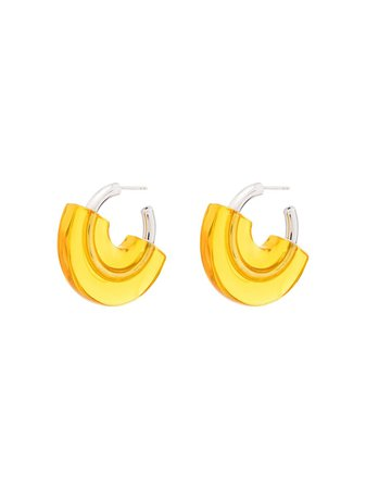 Panconesi Sterling Silver And Resin Hoop Earrings - Farfetch