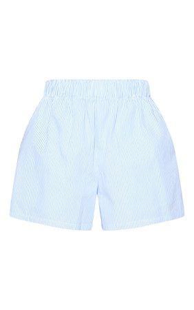 Blue Stripe Woven Boxer Detail Shorts | PrettyLittleThing USA
