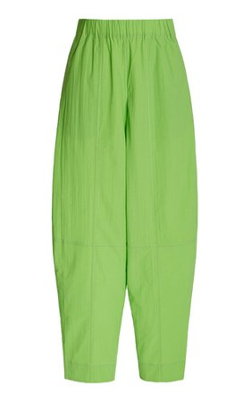 Organic Cotton-Blend Wide-Leg Pants By Ganni | Moda Operandi