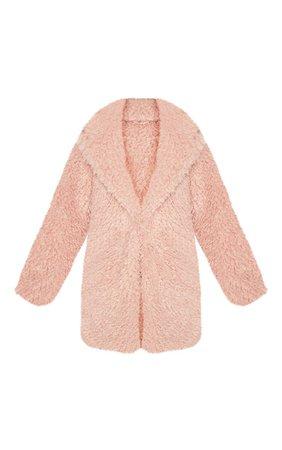 Black Teddy Faux Fur Coat | Coats & Jackets | PrettyLittleThing USA