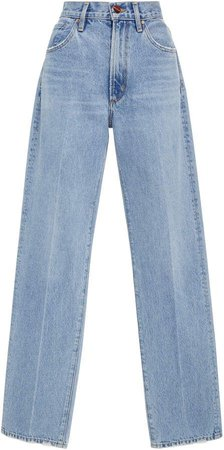 Goldsign High-Rise Classic Straight-Leg Jeans