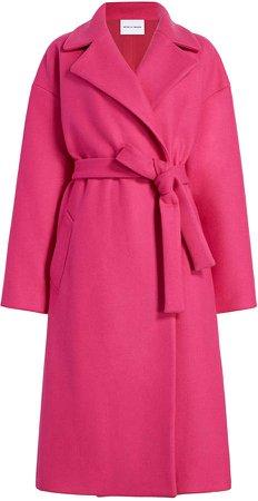 Michelle Waugh The Brigitte Belted Wool-Blend Coat