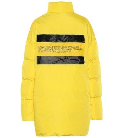Oversized down coat