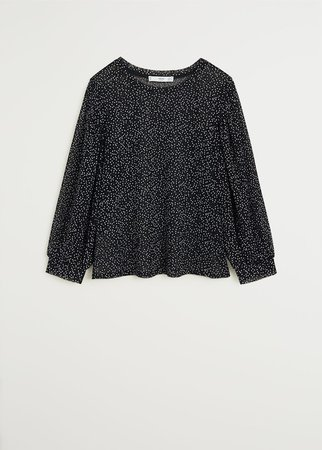 Polka-dot print blouse - Women   Mango USA