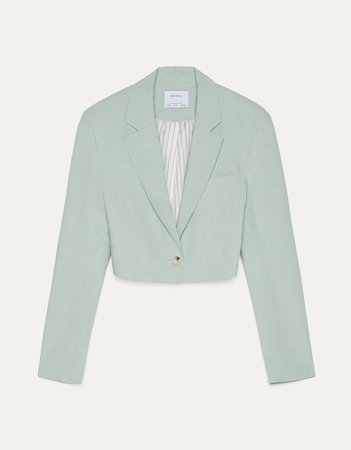 Crop blazer - Best Sellers - Bershka Turkey