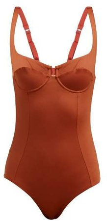 Bardot Underwired Swimsuit - Womens - Red
