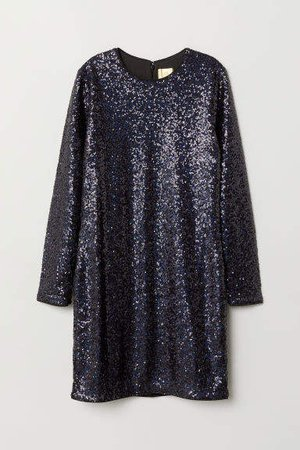 Sequined Dress - Blue