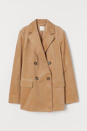 Corduroy Jacket - Beige - Ladies | H&M US