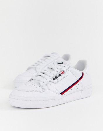 adidas Originals white Continental 80 sneakers | ASOS