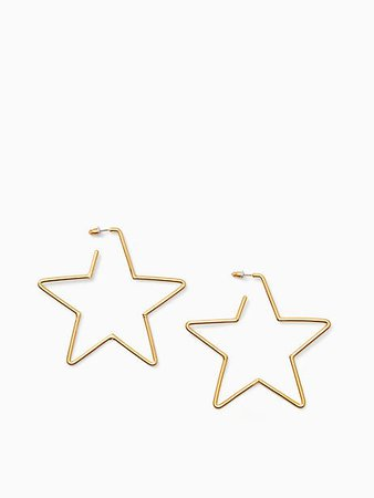 scrunched scallops star large hoops | Kate Spade New York