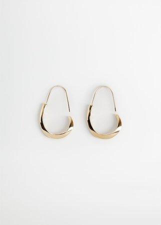 Metal pendant earrings - Women | Mango USA gold