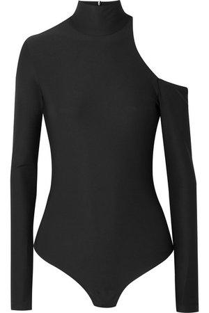 Alix | Barclay one-shoulder stretch-jersey turtleneck thong bodysuit | NET-A-PORTER.COM