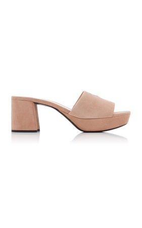 Prada Suede Platform Sandals