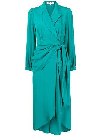 Shop DVF Diane von Furstenberg Stella silk wrap dress with Express Delivery - FARFETCH
