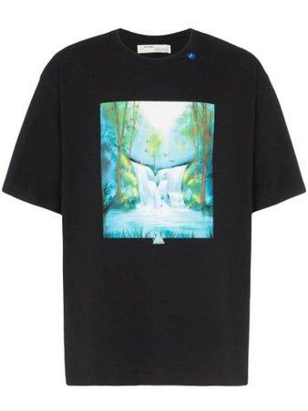 Off-White Waterfall Printed T-shirt - Farfetch