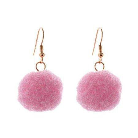 Amazon.com: Lureme Lovely Handmade Pom Pom Earrings with Fish Hook-Lightweight Pink (er005415-6): Jewelry