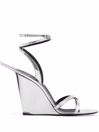 Giuseppe Zanotti Pris metallic sandals - FARFETCH