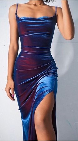 iridescent slip dress