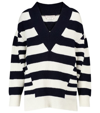 Striped Wool And Cashmere Sweater | Alexander McQueen - Mytheresa