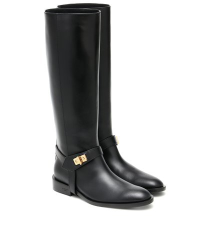 Eden Leather Knee-High Boots | Givenchy - Mytheresa