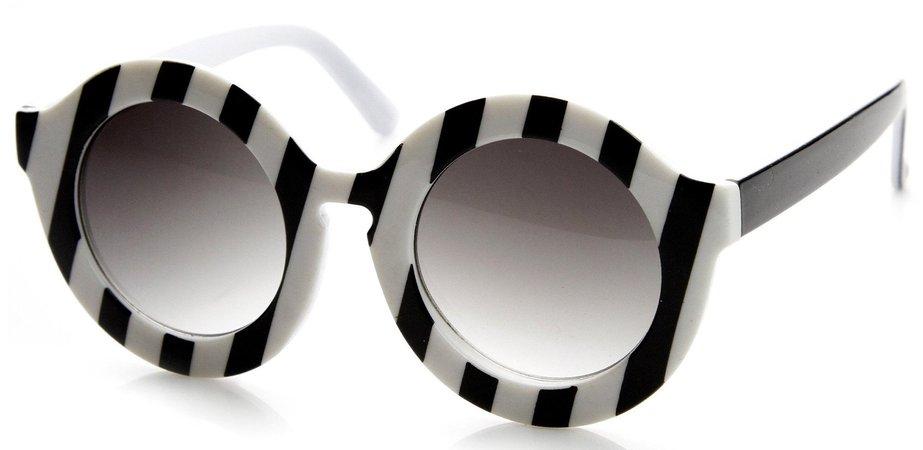 striped circle sunglasses