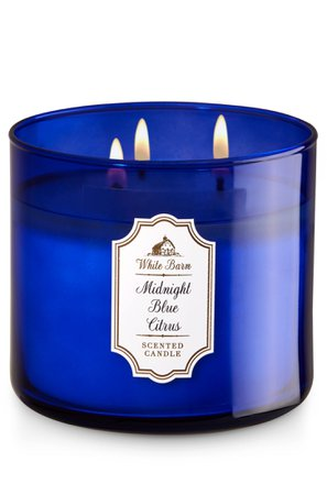 "White Barn Scented Candle ""Midnight Blue Citrus"""