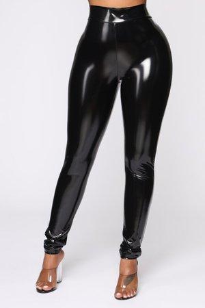Love Me Latex Pants - Black