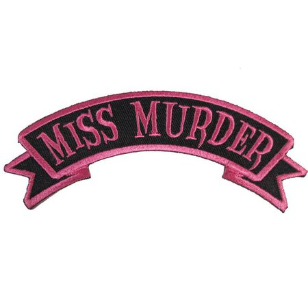 Miss Murder Arch Embroidered Iron On Patch Officially | Etsy
