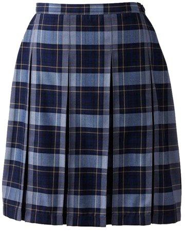 Blue Plaid Skirt