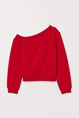 One-shoulder Top - Red