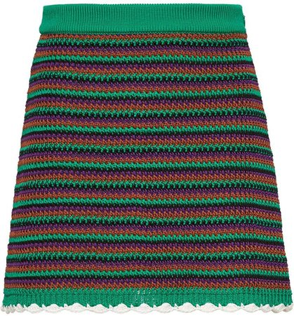 crocheted A-line skirt