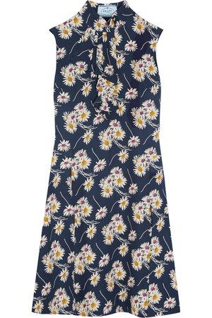 Prada | Ruffled floral-print crepe dress | NET-A-PORTER.COM