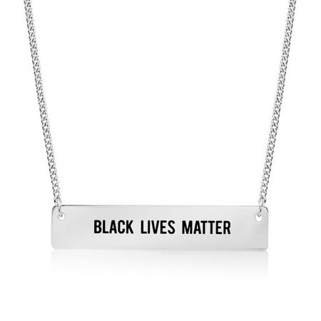 Piper Cleo Jewelry Black Lives Matter Gold / Silver Bar Necklace