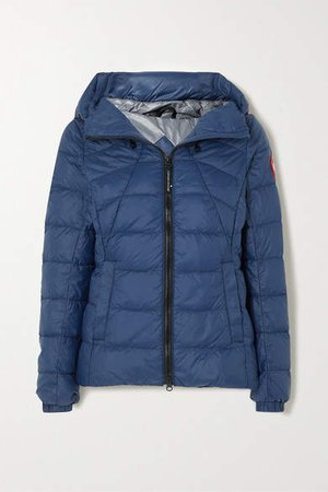 Abbot Hooded Quilted Shell Down Jacket - Blue