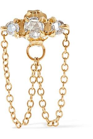 Catbird | Sleeping Beauty gold diamond earring | NET-A-PORTER.COM