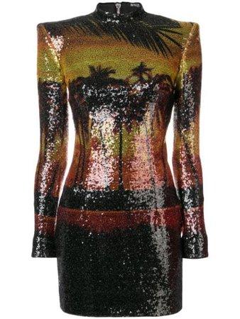 Balmain Sunset Sequin Dress - Farfetch