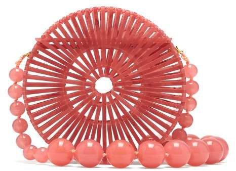 Luna Beaded Shoulder Bag - Womens - Pink