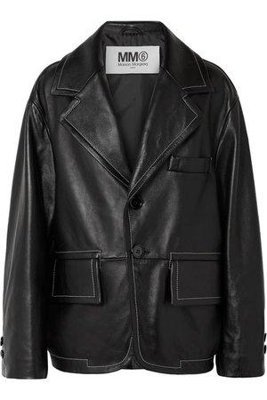 MM6 Maison Margiela   Oversized leather jacket   NET-A-PORTER.COM