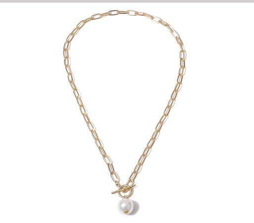 SHIXIN простое ожерелье с подвеской из искусственного жемчуга для женщин/девушек панк Длинная цепочка массивное ожерелье женские подарки модное ювелирное изделие 2020|Ожерелья с подвеской| | АлиЭкспресс
