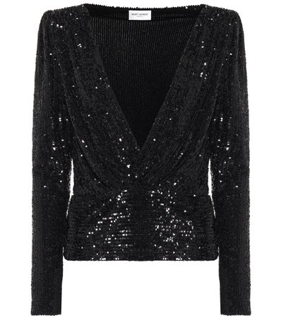 Sequined Blouse | Saint Laurent - Mytheresa
