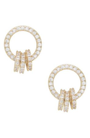 Ettika Dainty Crystal Ring Stud Earrings | Nordstrom