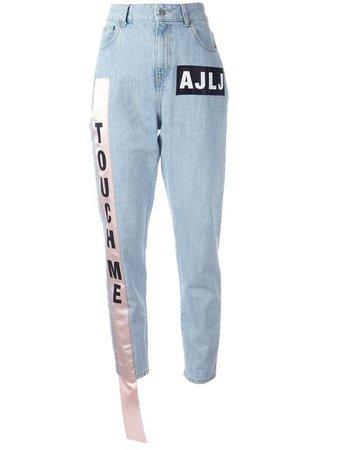 Au Jour Le Jour High-Waist Cotton Denim Jeans