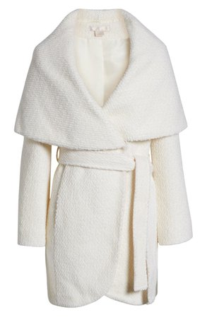 Rachel Parcell Bouclé Wool Blend Wrap Coat (Nordstrom Exclusive) | Nordstrom