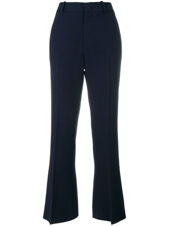 Shop blue Gucci bootcut trousers with Express Delivery - Farfetch