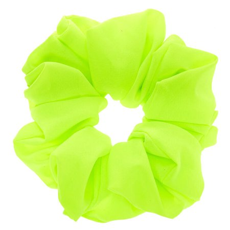 Giant Hair Scrunchie - Neon Green | Claire's US
