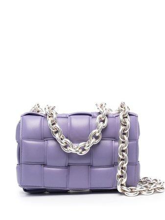 Bottega Veneta interwoven-detail shoulder bag purple 631421VBWZ0 - Farfetch