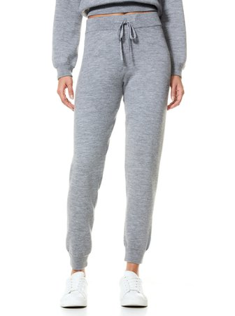 Aspen Knit Jogger In Med Heather Grey | Alice And Olivia