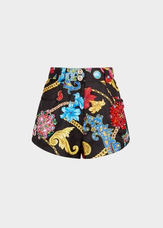 Versace - SS19 | Embroidered Gioielleria Jetés print shorts ($2,975)
