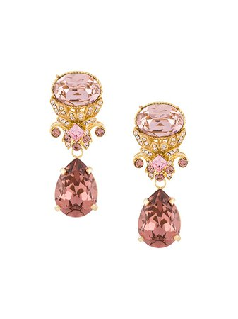 Dolce & Gabbana Drop Earrings With Decorative Details - Farfetch